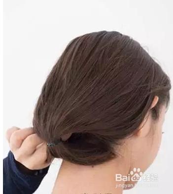 长发变短发的扎发发型图片