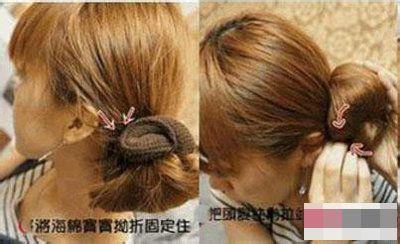 教你用盘发器扎出蓬松可爱丸子头发型图片