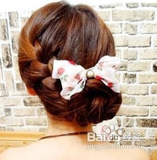 韩式简单编发发型图片