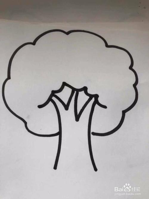 怎么画树又快又好看;树的简笔画怎么画