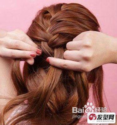 图解韩式编发盘发发型具体步骤图片