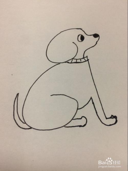 数字661画小狗的方法图片
