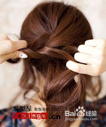 简单发型diy最简易马尾扎法图解图片