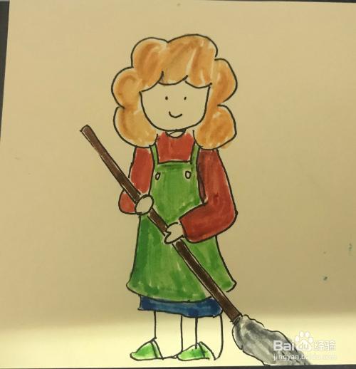 妈妈怎么画_如何绘制做家务的妈妈卡通画?