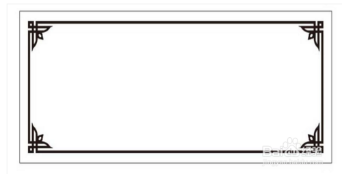 黑白的边框,简洁大方,适合国学知识等内容的手抄报使用.
