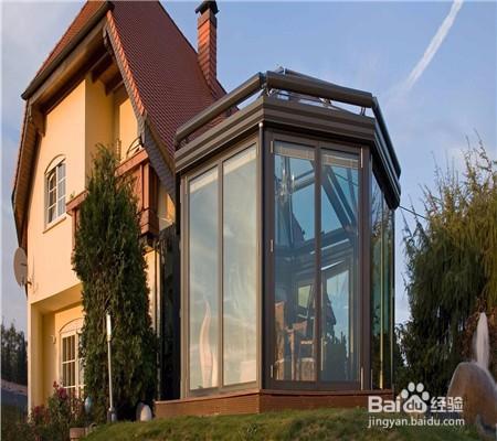 别墅阳光房房顶怎么遮阳隔热图片