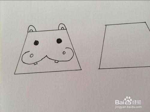 用梯形画动物的方法图片