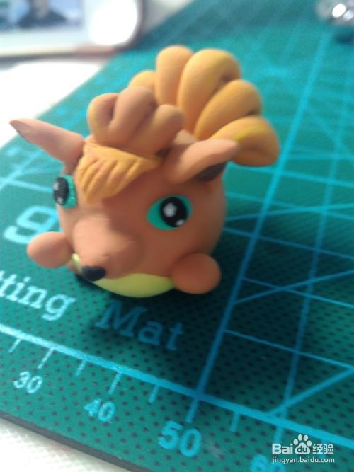 超轻粘土制作宠物小精灵之六尾图片