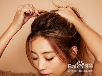 无刘海发型扎法教程图片