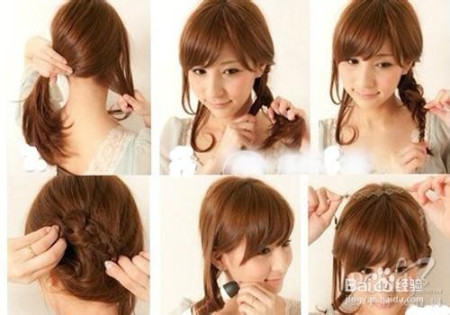 韩式发型盘发步骤图片