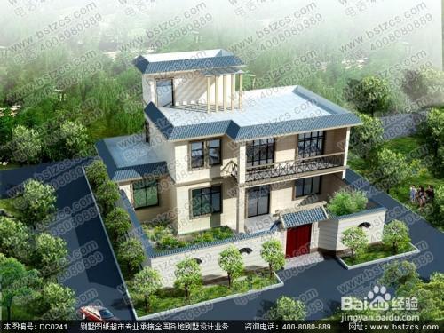 自己家修二层半的房子的别墅设计图