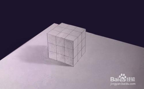 教你如何在纸上画3d立体画(入门教程)图片