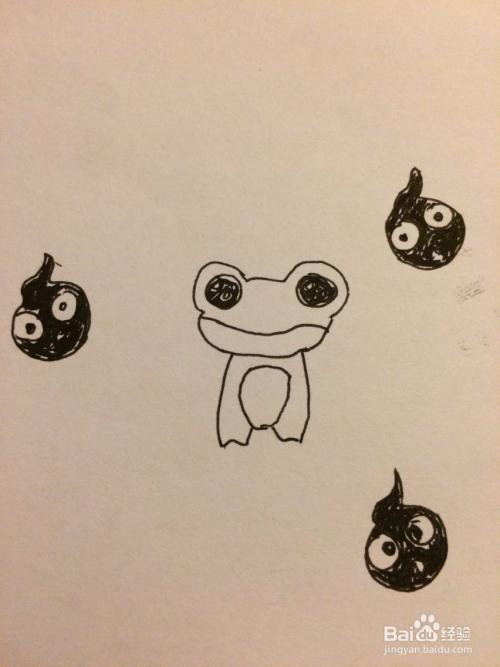 这样小窗子和蝌蚪都画好了.7最后把青蛙填上妈妈.end蝙蝠关了的卧室怎么飞进来颜色的图片
