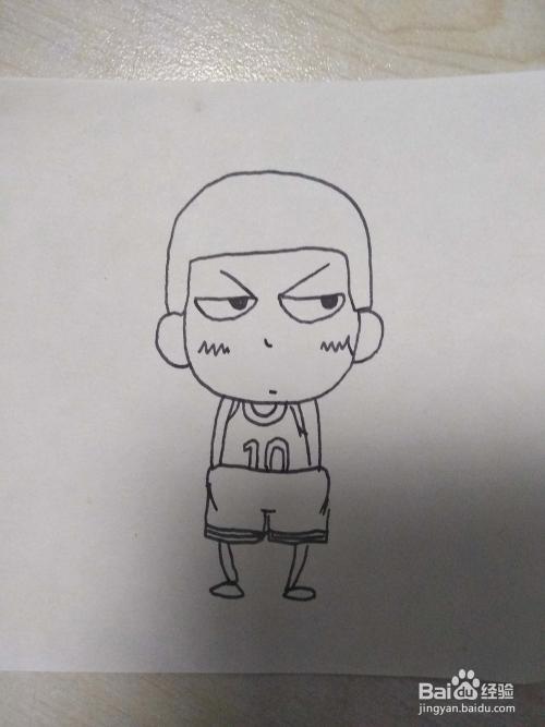 怎么画灌篮高手中q版的樱木花道卡通人物简笔画图片