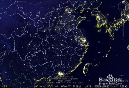 如何使用谷歌地球观看夜晚卫星图