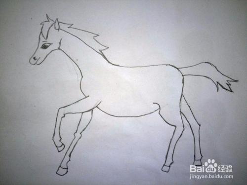 简笔画马的画法图片