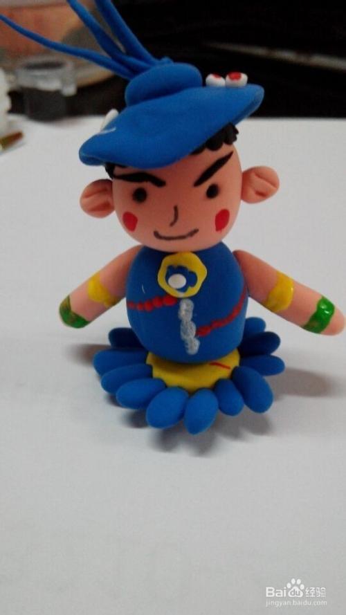 爱生气的小男孩--超轻粘土(橡皮泥)手工制作图片