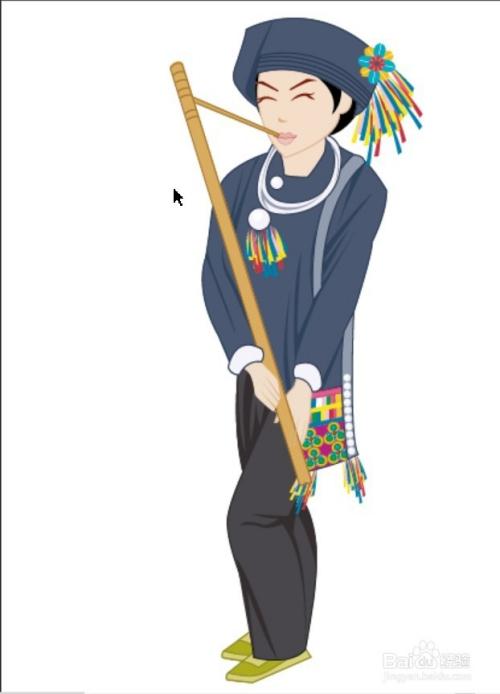 哈尼族男装服饰设计图片