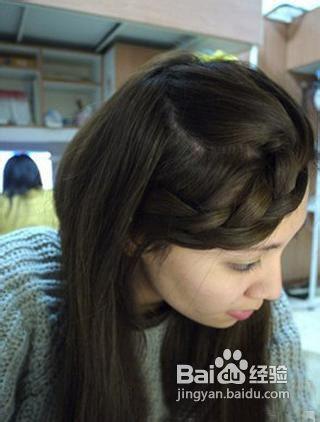 戴帽子刘海编发发型教程图片图片