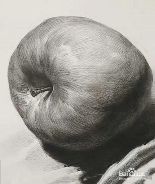 素描苹果步骤图图片