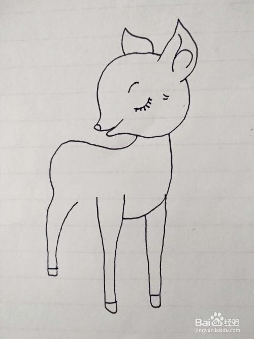 怎么教宝宝画可爱的梅花鹿简笔画?仅需7步骤图片