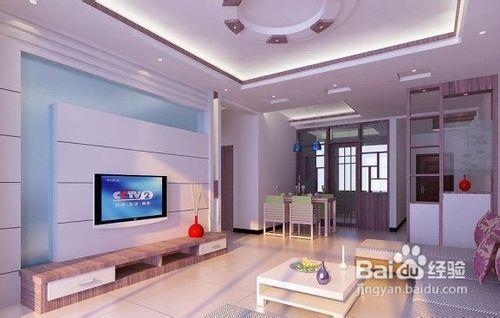 电视背景墙的家装效果图欣赏——家道进达装饰图片