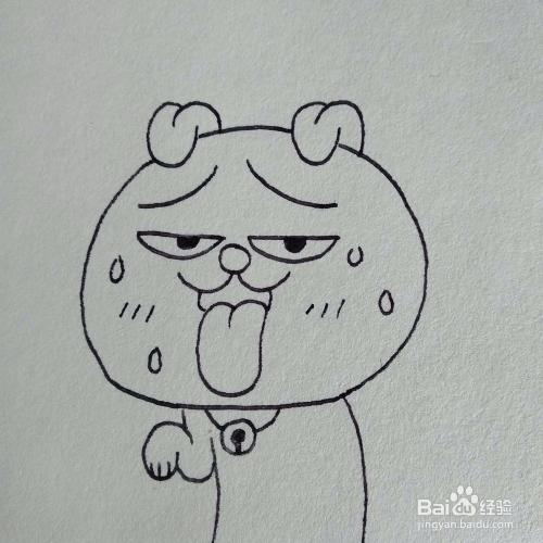 怎么画搞笑的热成狗表情包卡通简笔画?图片