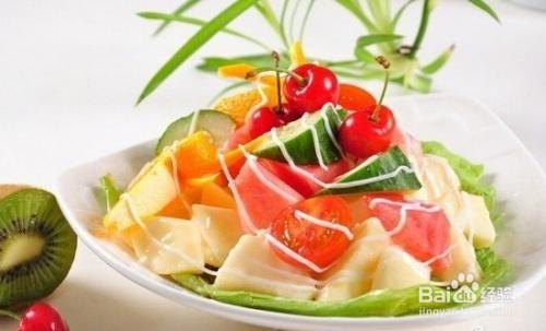 怎样制作一份水果沙拉图片