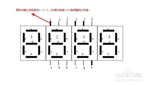 2位数码引脚图_如何区分1位和4位数码管引脚图