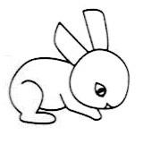 """母婴/教育 育儿 > 幼儿期  1 画""""兔子""""第一步:画个圆圈作为兔子的头 2图片"""