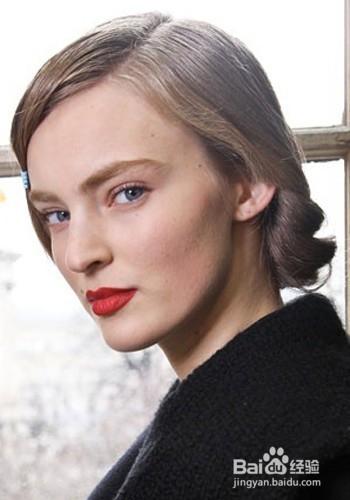 baidu.com 方法/步骤 1 女神发型之优雅低挽圆髻.图片