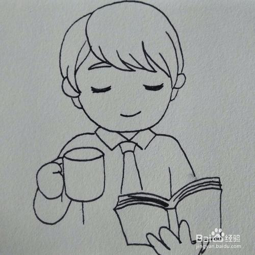 工具/原料 纸和笔 方法/步骤 1 先画出男孩的头发,头发刘海要画的
