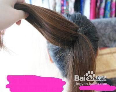 长发怎么扎丸子头图片