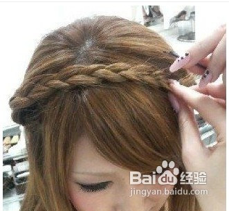 波西米亚风格韩式编发发型的打造