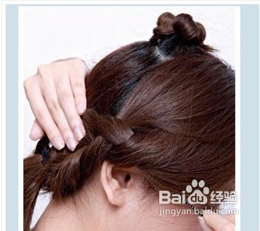 韩式发髻的盘发步骤图片