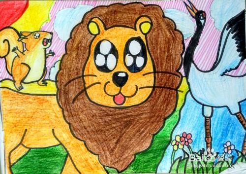 怎么教小朋友画画才好看:狮子的画法图片