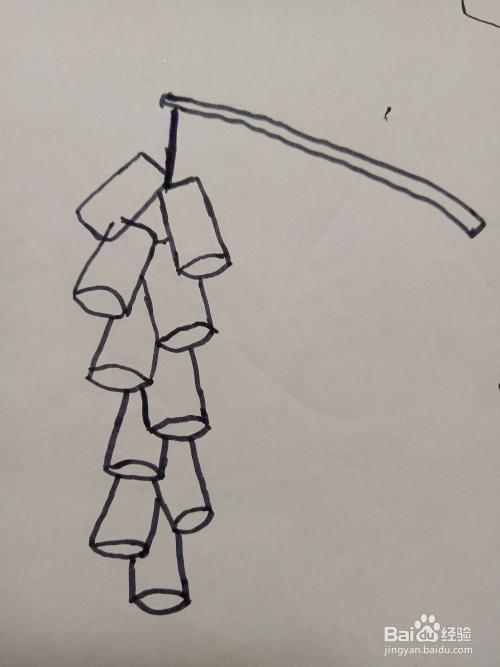 鞭炮的简笔画法?