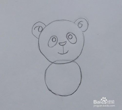 熊猫怎么画?画可爱大熊猫的教程(方法,步骤)图片