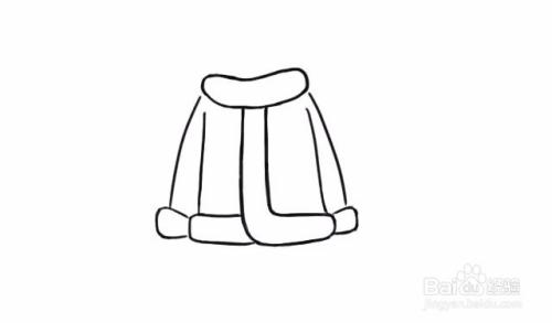 圣诞老人外套的简笔画