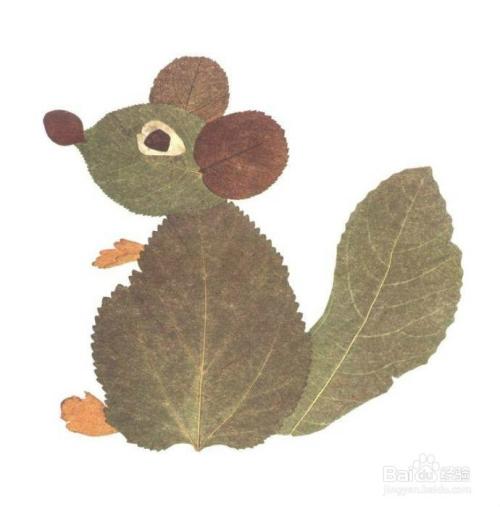 幼儿手工美术漂亮的叶子画