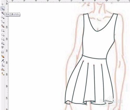 怎样用cdr ps画服装效果图?