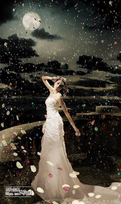Ps图片_photoshop制作一幅梦幻效果的美女图