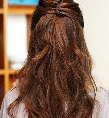 淑女挽发周末聚会首选发型图片