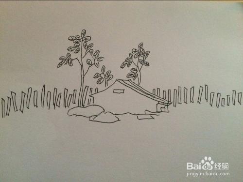 怎样画乡村风景画