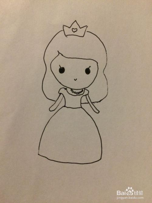 抖音中最简单小公主的简笔画法