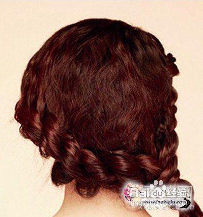 淑女范麻花辫侧编发发型图片