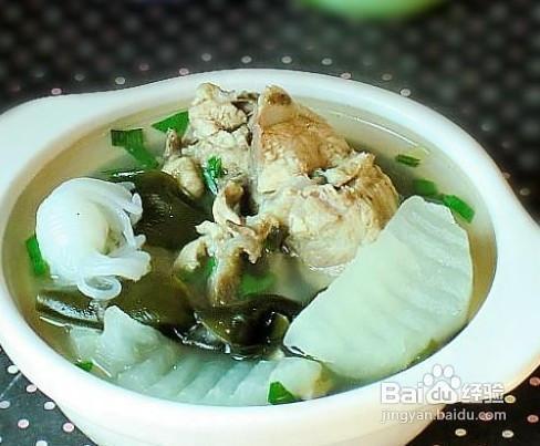 海带结萝卜排骨汤_萝卜海带大骨汤的做法