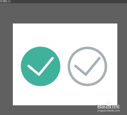 phtoshop绘制选中和未选中状态按钮教程图片