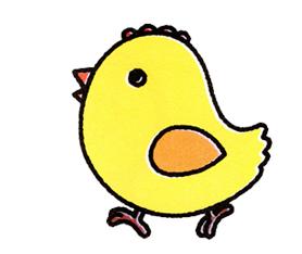 怎么画简单的小鸡?图片