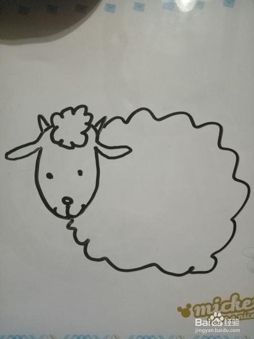 怎么画一只最简单的小绵羊图片
